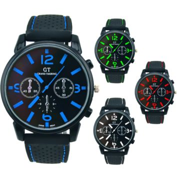 Men's GT Racing Style Wrist Watch in Four Colors