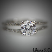Silver and Cubic Zirconia Engagement Ring