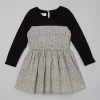Black Zigzag Dress - Toddler & Girls   Something special every day