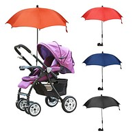 Baby Stroller Accessories Portable Solid Umbrella Kids Children Pram Shade Adjustable Folding Parasol for Stroller