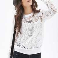 Sheer Floral CrochetTop
