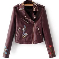 Embroidered Moto Jacket 5 Colors