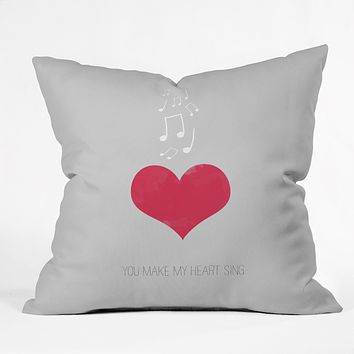 Allyson Johnson You Make My Heart Sing Throw Pillow