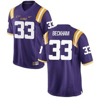 Odell Beckham Jr LSU Tigers No. 33 Nike Stitched Jersey - Purple