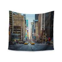 "Ann Barnes ""Sunset Over 7th"" Urban Photography Wall Tapestry"