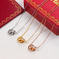 Full Diamonds Necklace With Double Rings