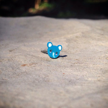 Elephant Surgical Steel Stud Earring. Perfect for Helix and Cartilage Piercings.