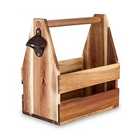 Acacia Wood Beer Caddy by Foster & Rye™