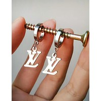 LV Louis Vuitton Popular Women Titanium Steel Pendant Earrings Jewelry Accessories