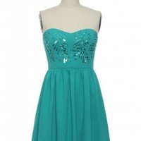 All That Glitters is Teal Dress