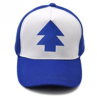 Fashion PINE TREE Print Trucker Cap Cartoon Fans Dipper Men Women Children Gravity Falls Flat Bill Snapback Hats