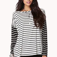 Colorblocked Striped Top