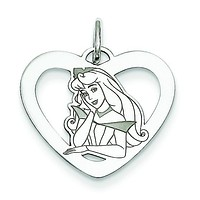 Sterling Silver Disney Aurora Heart Charm WD232SS