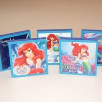 The Little Mermaid Ariel Note Pads Set of 5 - Excellent Party Favors - Great Stocking Stuffers