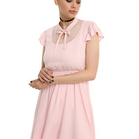 Blush Swiss Dot Babydoll Dress