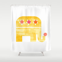 At circus Shower Curtain by Yasmina Baggili