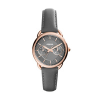 Tailor Multifunction Leather Watch, Grey