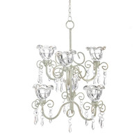 Crystal Blooms Double Candle Chandelier