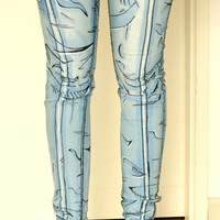 Cel shaded pants Borderlands style Comic book jeans Cosplay Pants