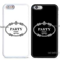case,cover fits iPhone models>party animal, funny,novelty