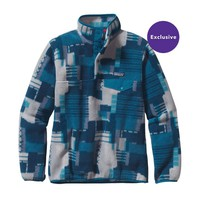 Patagonia Women's Lightweight Synchilla® Snap-T® Pullover | Feather Dance: Bear Brown