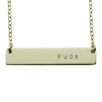 The Name Plate Necklace Fuck