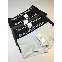Balenciaga Tide brand men's cotton comfortable breathable four-corner briefs three-piece