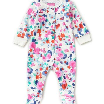Joules Baby Girls Newborn-12 Months Floral-Print Footed Coverall   Dillards