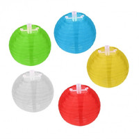 New Ball Lantern 10pcs LED Solar Power String Light Decorative Wedding Party Outdoor Light US Plug