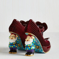 Quirky When in Gnome Heel in Burgundy