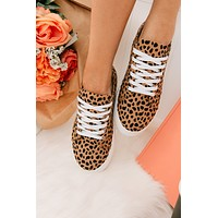 Pumped Up Kicks Cheetah Print Platform Sneakers (Cheetah)