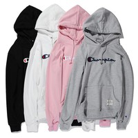 Champions Fashion Long Sleeve Embroidery Hooded Sweater Sweatshirt