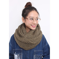 Gold Lurex Chunky Knitted Snood