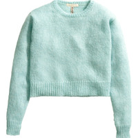 H&M - Mohair-blend Sweater - Turquoise - Ladies