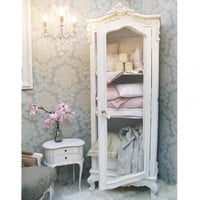 Provencal Wire Fronted Demi Armoire