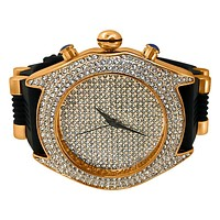 Full Dial and Triple Bezel Icey Watch Rose Gold
