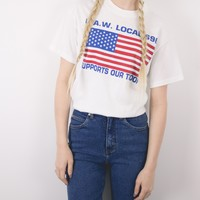 Vintage 80s U.A.W. Support Our Troops T Shirt