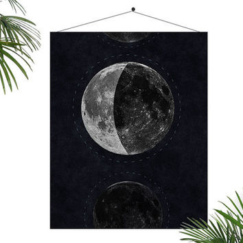 Moon Poster Moon Phases luna Galaxy Print Astronomy Poster Constellation Print night Sky Map Stars Inspirational Print Galaxy Geeky Science