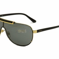 One-nice™ Versace Men's VE2140 2140 1002/B7 Gold/Black Shield Sunglasses