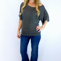 Banded Dolman: Charcoal