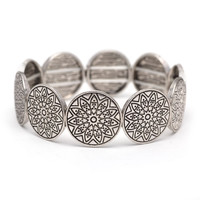 Face Up Bracelet In Silver