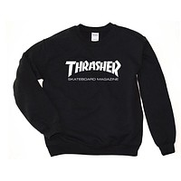 Thrasher Crewneck Skateboarding Magazine Skate Logo Sweater Hoodie Multi Colors