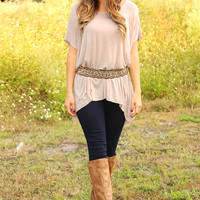 Break It To Me Top: Taupe