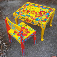 Introducing Abby....a table and chair set for a special little girl