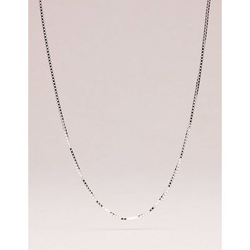 """Sterling Silver Box Chain - Adjustable 20 inch or 22"""" inch"""