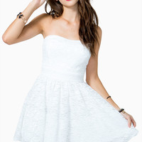 Lacey Poof Flare Dress