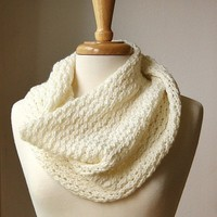 Infinity Scarf Knitting Pattern. Circular scarf snood. Bridget Cowl. PDF Electronic Delivery.