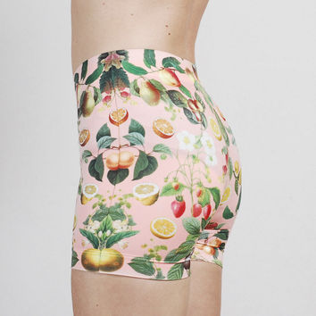 Peach Fruit Bike Shorts -- In Very Limited Quantities