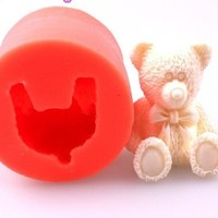 bear fondant cake molds soap chocolate mould for the kitchen baking = 5658095169