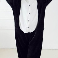 New 2015 Panda Cosplay Costume Animal Suits Onesuit Pyjamas Pajamas Sleepwear Party Dress One Piece = 1958200132